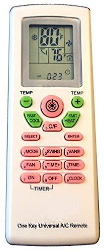 AC Remote Control For Carrier, Trane, Toshiba, Sanyo, Mitsub