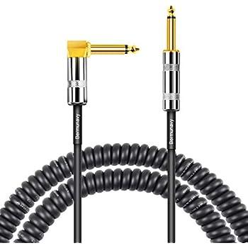 Amazon.com: Tisino - Cable de guitarra en espiral curvado ...