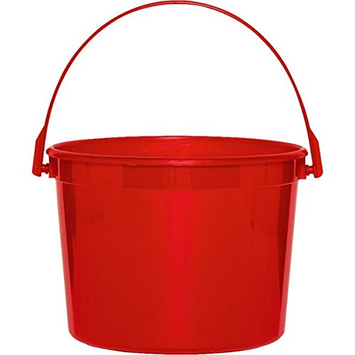 Plastic Bucket | Apple Red | Party -