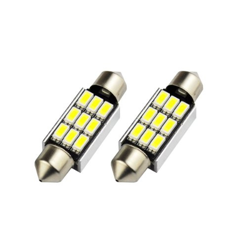 2 opinioni per Akhan S36C9WK- Bianco Can Bus C5W Festoon Lampade 36mm 9 SMD LED luce targa
