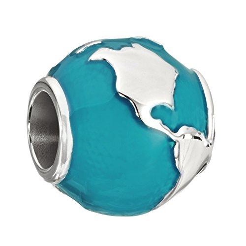 Chamilia 2020-0755 Sterling Silver Around The World Globe Bead Charm (Silver Sterling Charm Globe)