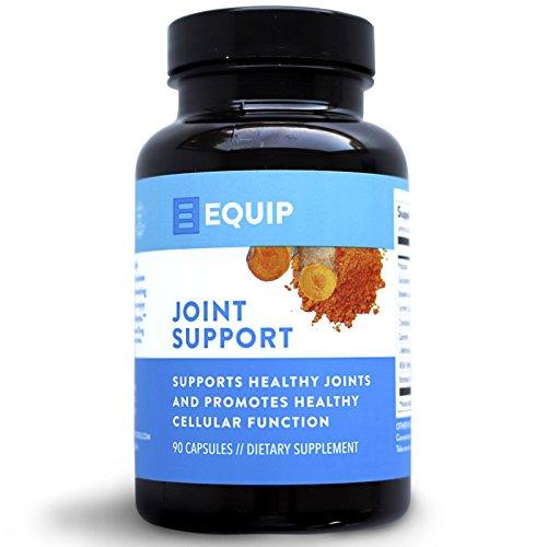 Equip Joint Support Health Supplement Extra Strength Pills Best for Knee, Hand, Back Aches & Soreness w Turmeric Curcumin, Potassium, Bromelain for Men & Women
