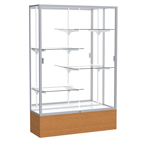 - Waddell Reliant Mirror Back Display Case, 48W by 72H by 16