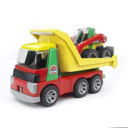 Bruder Mini - Bruder Toys Transporter With Skid Steer Loader