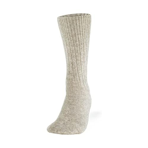 Cleverbrand Inc. 100% Pure Wool Socks - Women, Natural Gray