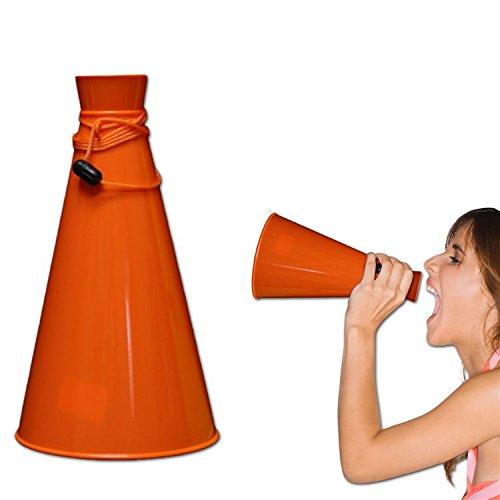 Orange Plastic Megaphone