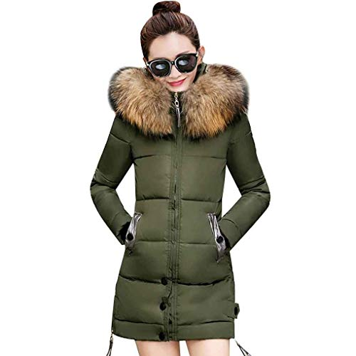 Armeegreen Lunga Capispalla Colore Donna Fashion Inverno Tasche Cappuccio Coat Solido Manica Trendy Down Transitional Cerniera Laterali Fit Saoye Slim Con z0SqHw01