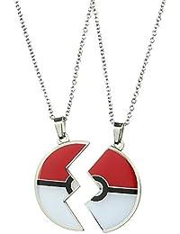 Pokemon Poke Ball Best Friends Necklace 2 Pack