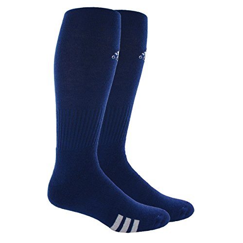 adidas Rivalry Field Multi-Sport Socks (2-Pack), Cobalt Blue/White, Small