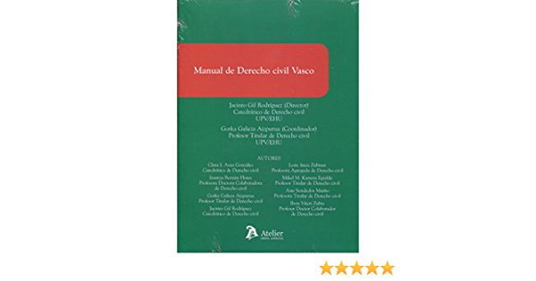 Manual De Derecho Civil Vasco Amazon Es Gil Rodriguez Jacinto Libros