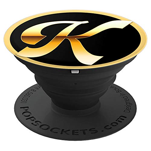 Personalized Letter K Script style font - PopSockets Grip and Stand for Phones and Tablets