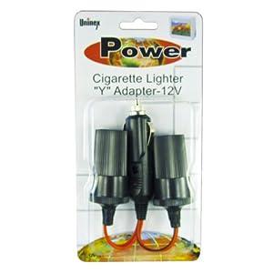 Uninex Car Cigarette Lighter Y Adapter Two-Way Double Plug 12V New Outlet Splitter