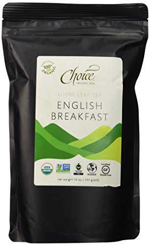Choice ORGANIC TEAS Loose Leaf Tea, English Breakfast, 1 Pound