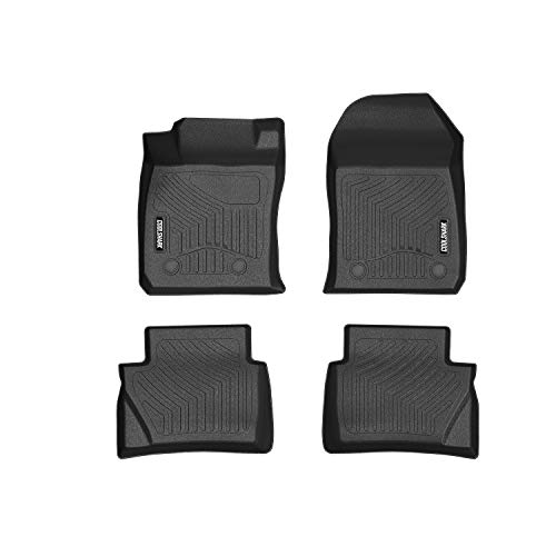 (COOLSHARK Ford Fiesta Floor Mats, Floor Liners Custom Fits 2014-2019 Ford Fiesta (Automatic Transmission ONLY) and 2014-2019 Fiesta ST, Front and Rear Row Included, All Weather Protection, Black)
