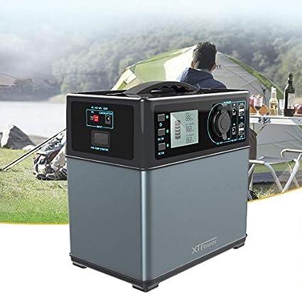 TALLA 400Wh / 2x220V, 2x12V, KFZ, 4xUSB. XTPower XT-400Wh Batería Recargable de Alto Rendimiento de Litio-Ion - Generador Solar - CA 220V 300W y Enchufe para el Coche y USB a 12V