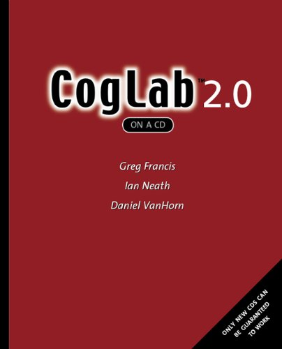 CogLab on a CD, Version 2.0