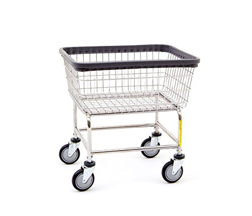 R&B Wire 100E Standard Wire Frame Metal Laundry Cart - Chrome by R&B Wire Products