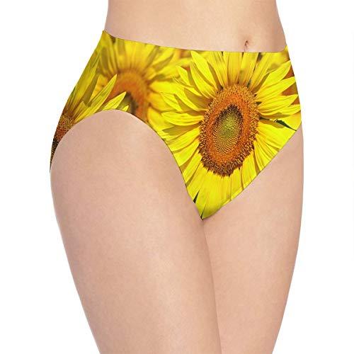 yujiasuliao Womens Underwear Sunflower Marvellous Bikini Brief Hipster - Mariposa Sunflower