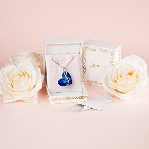 Brilla Cadeaux Fête des Mères SWAROVSKI ELEMENTS Pendentif Collier 'Waltz of Love'