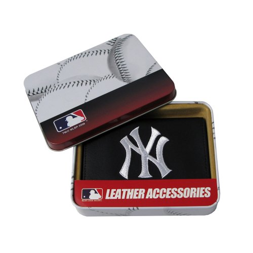 MLB New York Yankees Embroidered Genuine Cowhide Leather Trifold ()