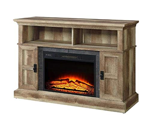 Winston.H.E- Electric Fireplace Media Center-Electric Fireplace Tv Stand-Weathered for TVs Up to 55