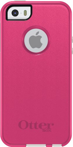 OtterBox COMMUTER SERIES Case for iPhone 5/5s/SE - Frustration Free Packaging - HOT PINK (HOT PINK/WHITE)