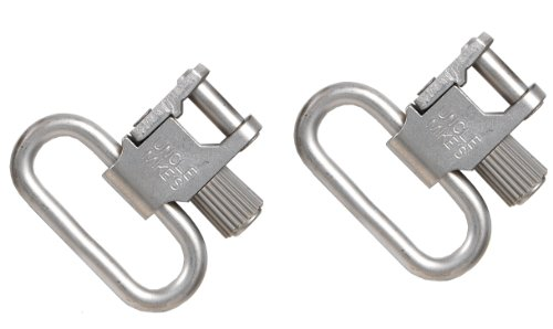 Uncle Mike's Quick Detachable Super Swivel with Tri-Lock (Nickel-Plated, 1-1/4-Inch Loops)