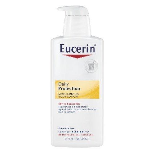 Eucerin Every Day Protective Lotion hydratante pour le corps, SPF 15, 13,5 onces Bouteilles (pack de 2)