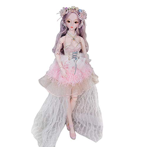 - Dream Fairy Fortune Days Original Design 60 cm Dolls(with Gift Box), Series 26 Joints Doll, Best Gift for Girls (Klaire)
