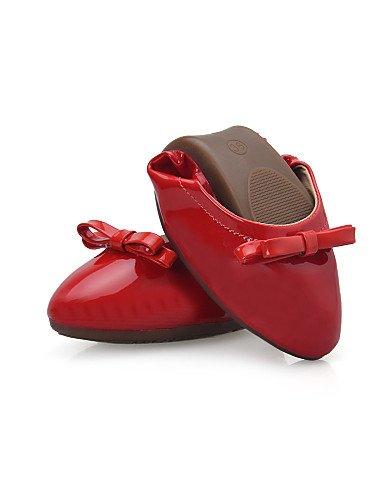 Toe señaló rojo y beige 5 us5 zapatos mujer uk3 cn35 Pisos plano talón eu36 al casual negro comodidad aire PDX de libre carrera vestido de 5 oficina Beige HqwxH08