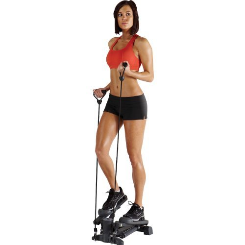 Marcy Mini-Stepper with Exercise Bands Home Gym Workout Equipment | MS69