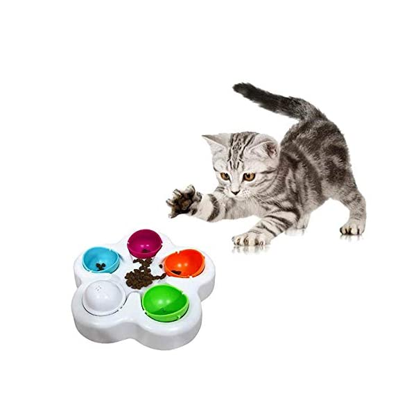 KOBWA Unique Dog Puzzle Toy, Pet Puzzle Feeder Bowl, Fun Interactive IQ Game to Hide Treats in - Improve Concentration - Reduce Hyperactivity, Puzzle Smart Toys for Small Medium Large Dogs Cats 2