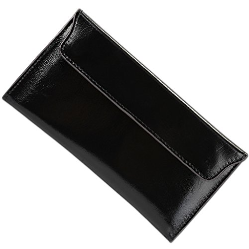 YALUXE Envelope Cowhide Leather Removable