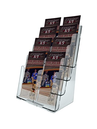 Magazine Multi Holder Tiered (Deflecto 77441 Four-tier multi-compartment large size docuholder, 9-1/4x7x13-1/2, clear)