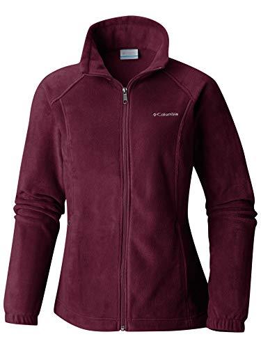 (Columbia Women's Benton Springs Classic Fit Full Zip Soft Fleece Jacket, Rich Wine,)