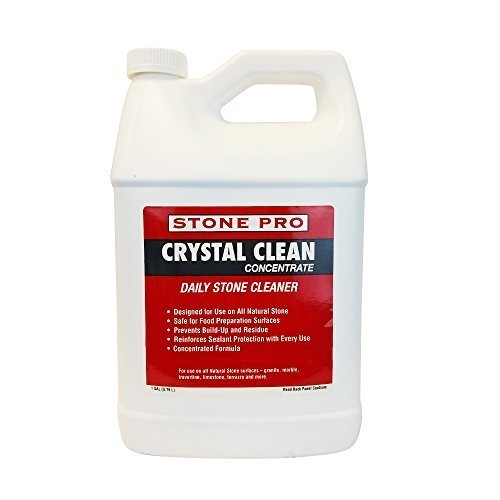 Pro Concentrate (Stone Pro 1 Gallon Concentrated Crystal Clean Daily Stone Cleaner For Use on All Natural)