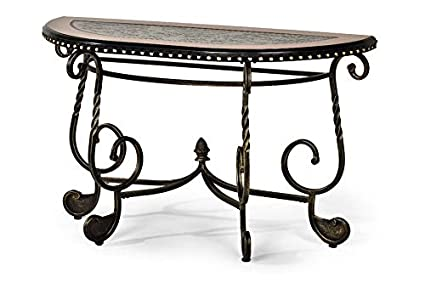 the best attitude 4447f 7c580 Amazon.com: Metal Console Table with Wood Top and Nail Head ...