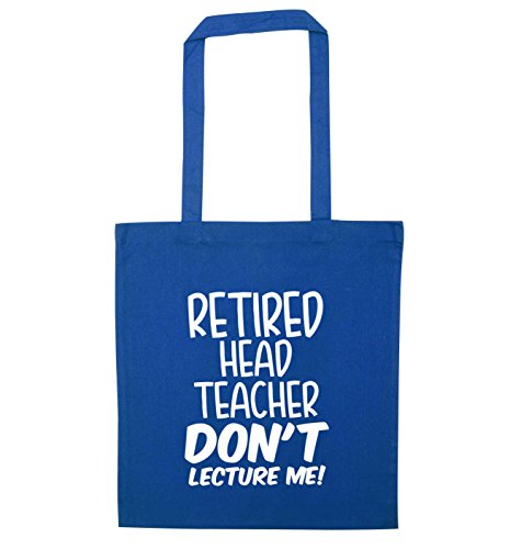Retired Tote head Creative Blue me Bag lecture don't teacher Flox tR7qq