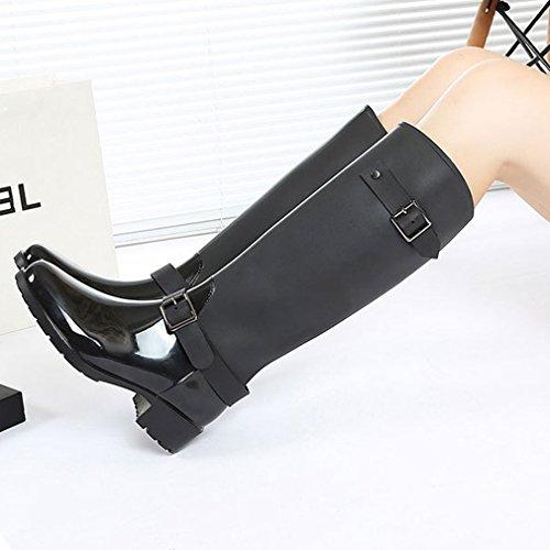 Nero Womens Xianshu Welling Riding Zipper Boots Buckle Martin Belt 8gwOq41