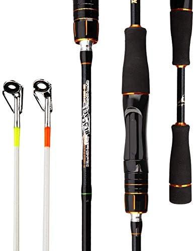 Topfisher Fishing Rod 2 Pieces 6-Feet Casting Rod Spinning Rod