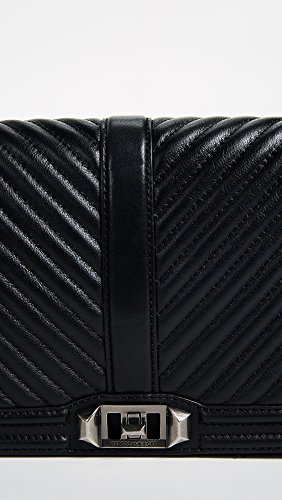 Bag Minkoff Chevron Slim Body Black Cross Rebecca Love Quilted Women's 8nRwAd