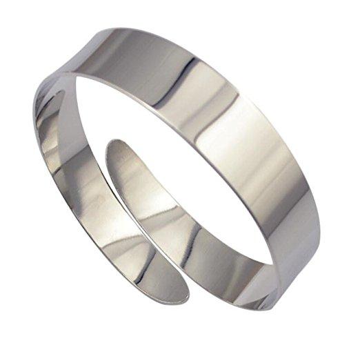 WIIPU Egypt Cleopatra Swirl Snake Upper Arm Cuff Armlet Armband Bangle(B674)-Silver