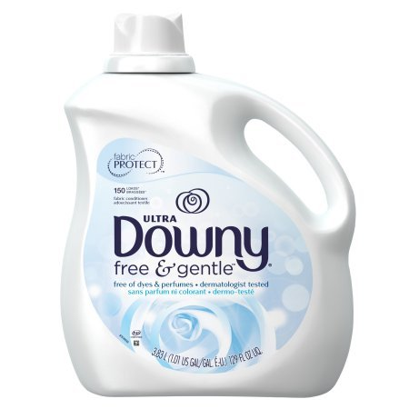 (Ultra Downy Free & Gentle Liquid Fabric Conditioner, Pack of 2 Bottles,129 FL oz. ea, 258oz Total)