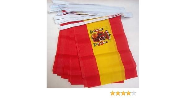 AZ FLAG Guirnalda 6 Metros 20 Banderas de ESPAÑA 21x15cm - Bandera ...