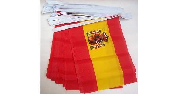 Amazon.com: Bandera de España 6 metros Bunting 20 Banderas 9 ...