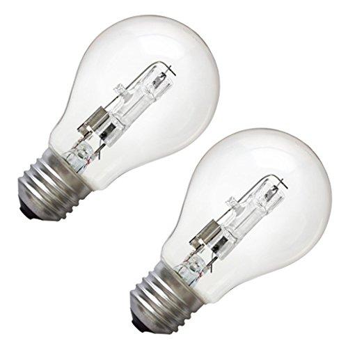 Litetronics 68350 - 72W A19 2-Pack MED 120V Clear 1,000H A Line Halogen Light Bulb