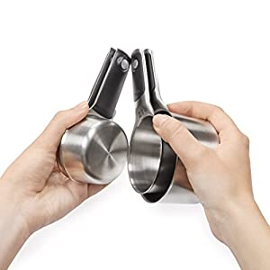 OXO Good Grips Stainless Steel Measuring Cups with Magnetic Snaps