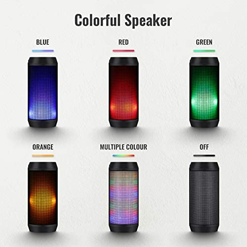 ELEHOT Bluetooth Speaker Portable Wireless with Lights, Stereo Loud Volume, TWS Dual Pairing Speaker with Subwoofer Outdoor 1 PC 41Iw55VsAZL