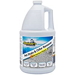 Sheiner's Carpet Stain Cleaner and Odor Remover, Effective Enzyme Cleaning for Pet Urine and Feces Stains, 1 Gallon