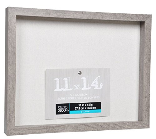 (11 x14 Rustic Grey Shadow Box Display Case Large Barnwood Gray Shadowbox 1